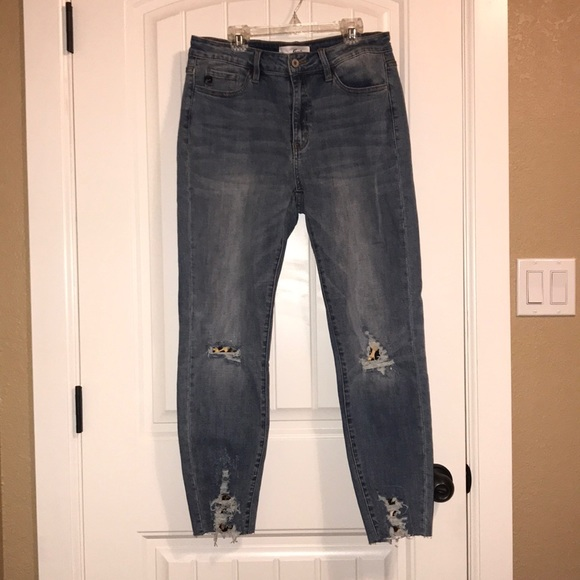 KanCan Denim - KanCan Distressed Leopard Jeans